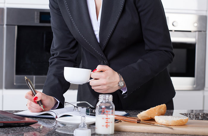 Cooking Tips man holding coffee cup