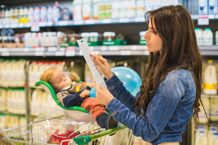 Cooking Tips mom with baby in store