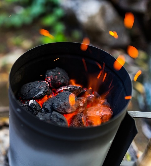 charcoal can stove