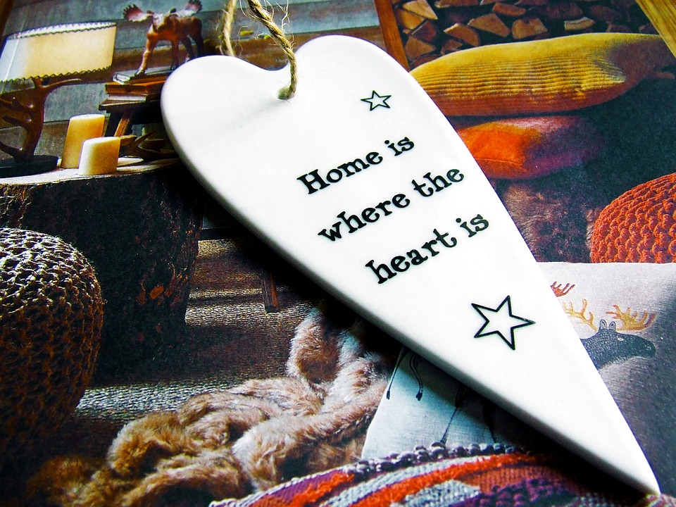 cozy home heart inscribed