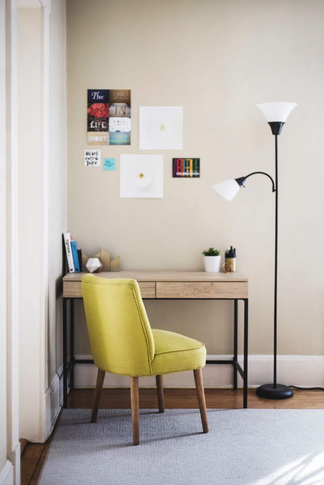 Home desk chair and lamp matching