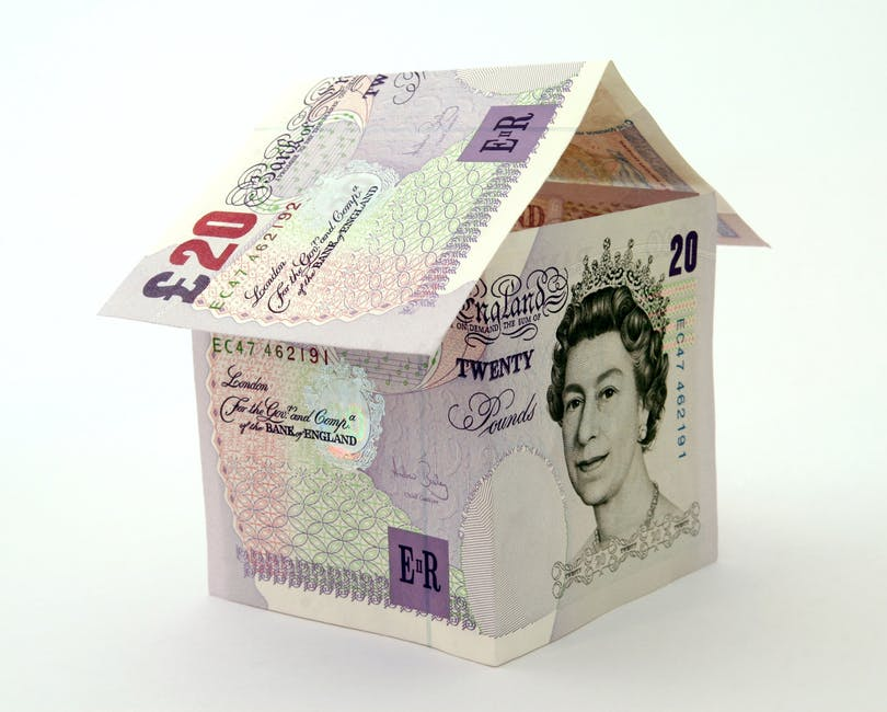 house made of british money