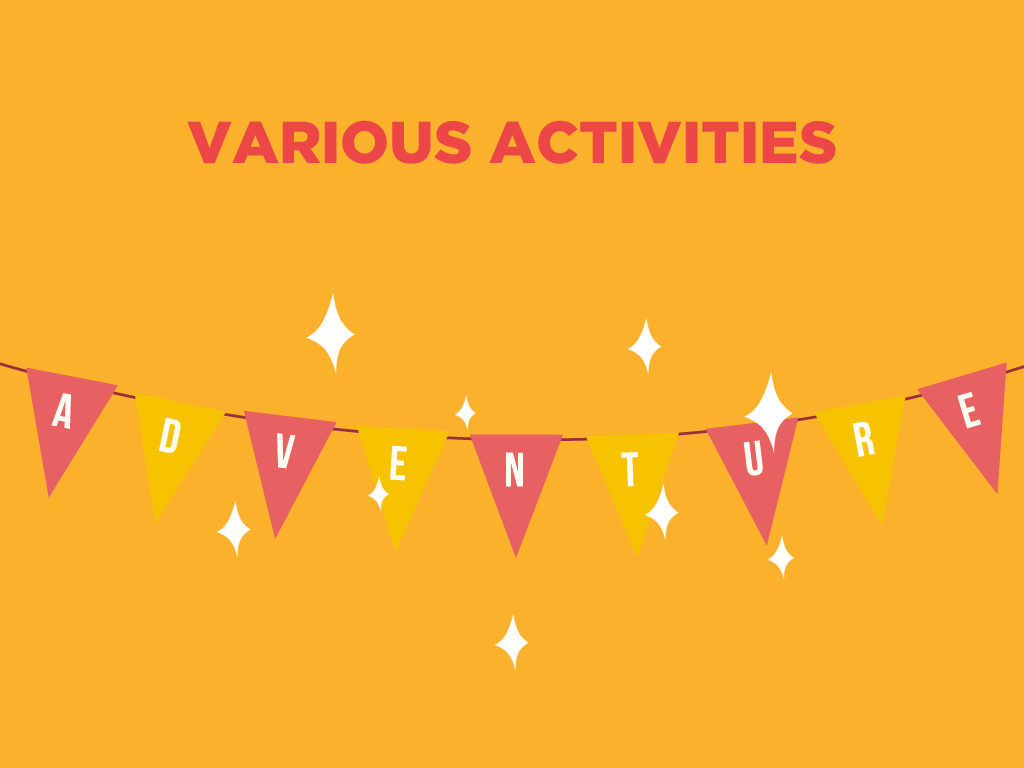 various activities glamping