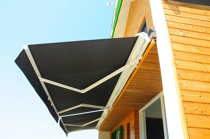 black Retractable Awnings