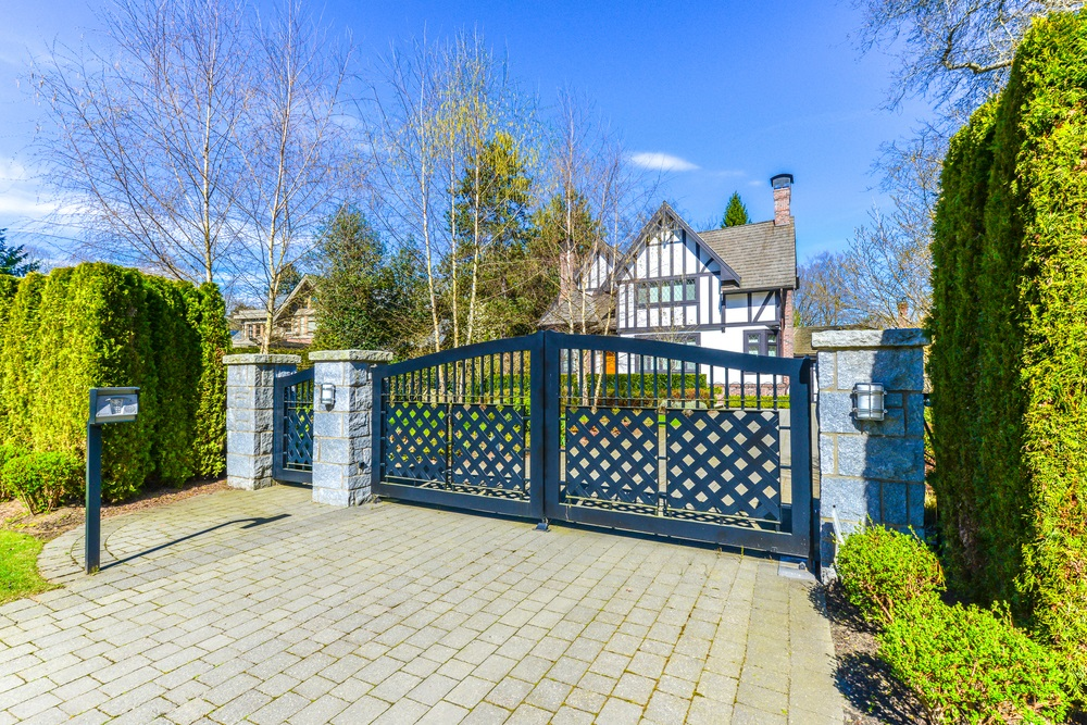 Cantilever Gates outside during the day