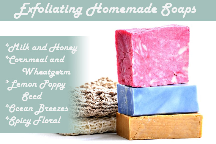 Homemade Soaps exfoliating colors