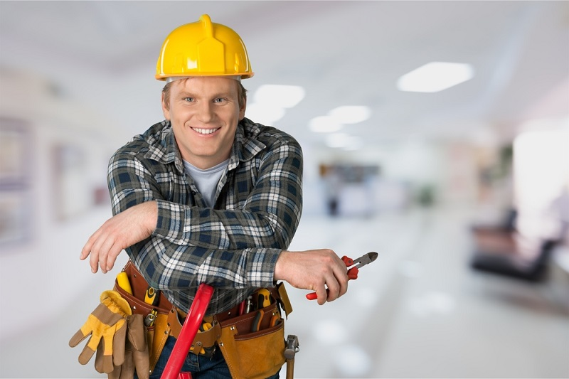Hire the Electrician man smiling