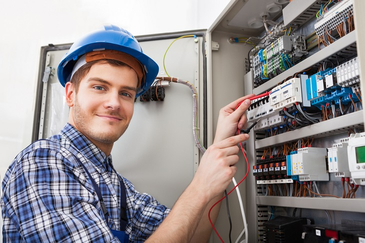 experience Electrician man smiling