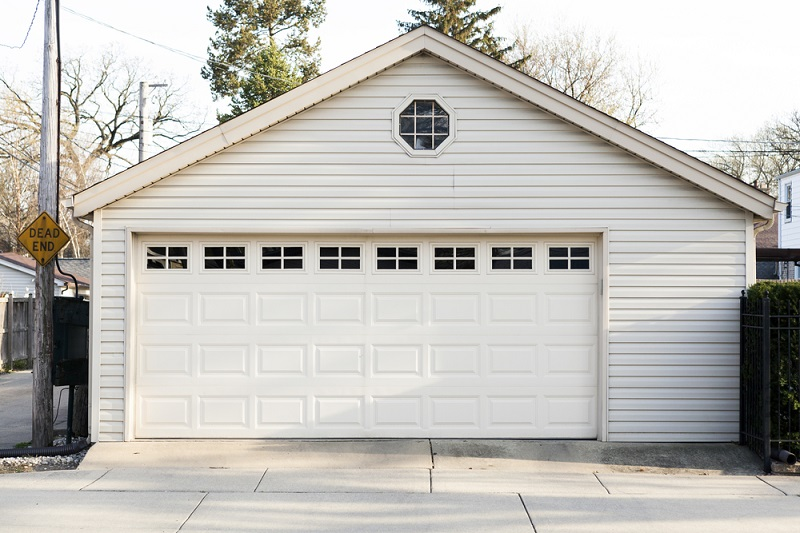 Garage Door on sided home