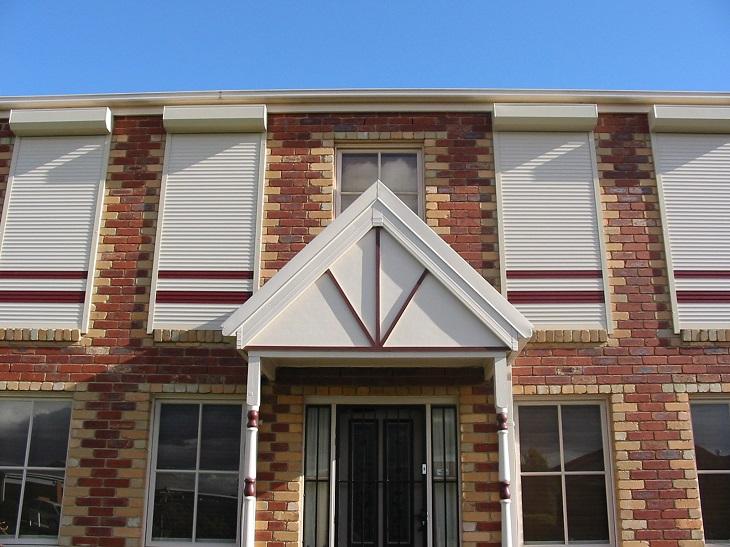 roller shutter home entryway