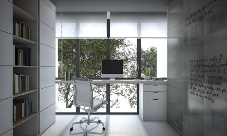 Door Blinds outdoor view desk