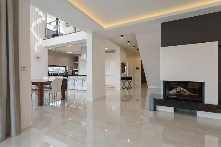 White Marble Tiles entryway