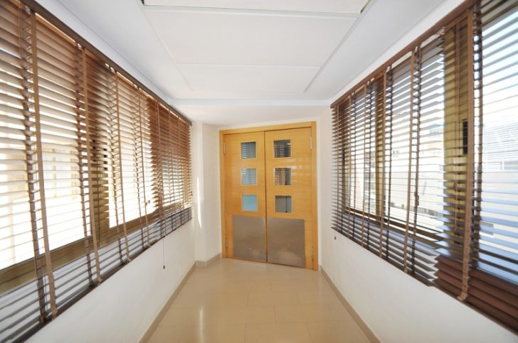 Roller Blinds hallways to door