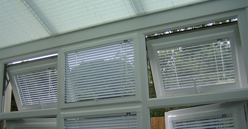 Venetian Blinds window open outside