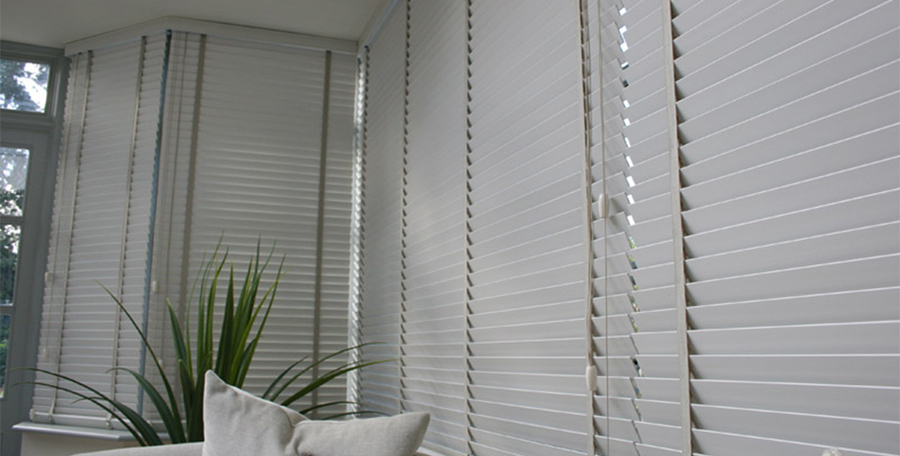 Venetian Blinds closed indoors
