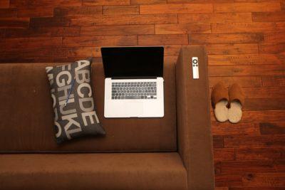 Living Room hardwood laptop