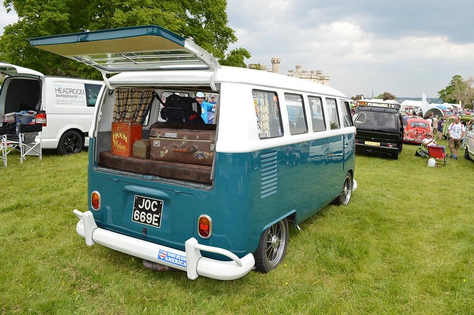 caravan bus with back open