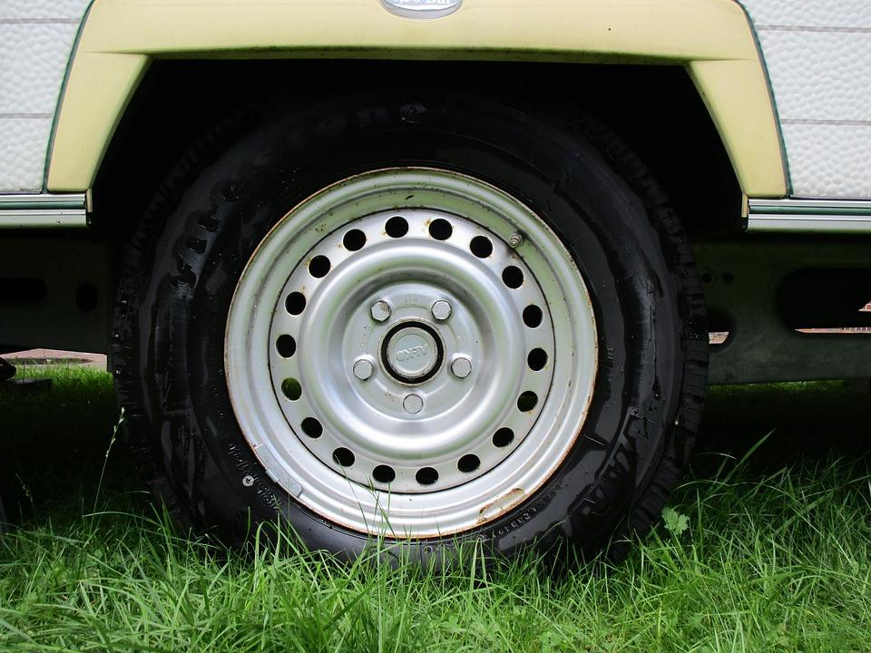 caravan tire shot
