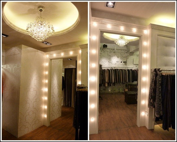 closet door frame lighting