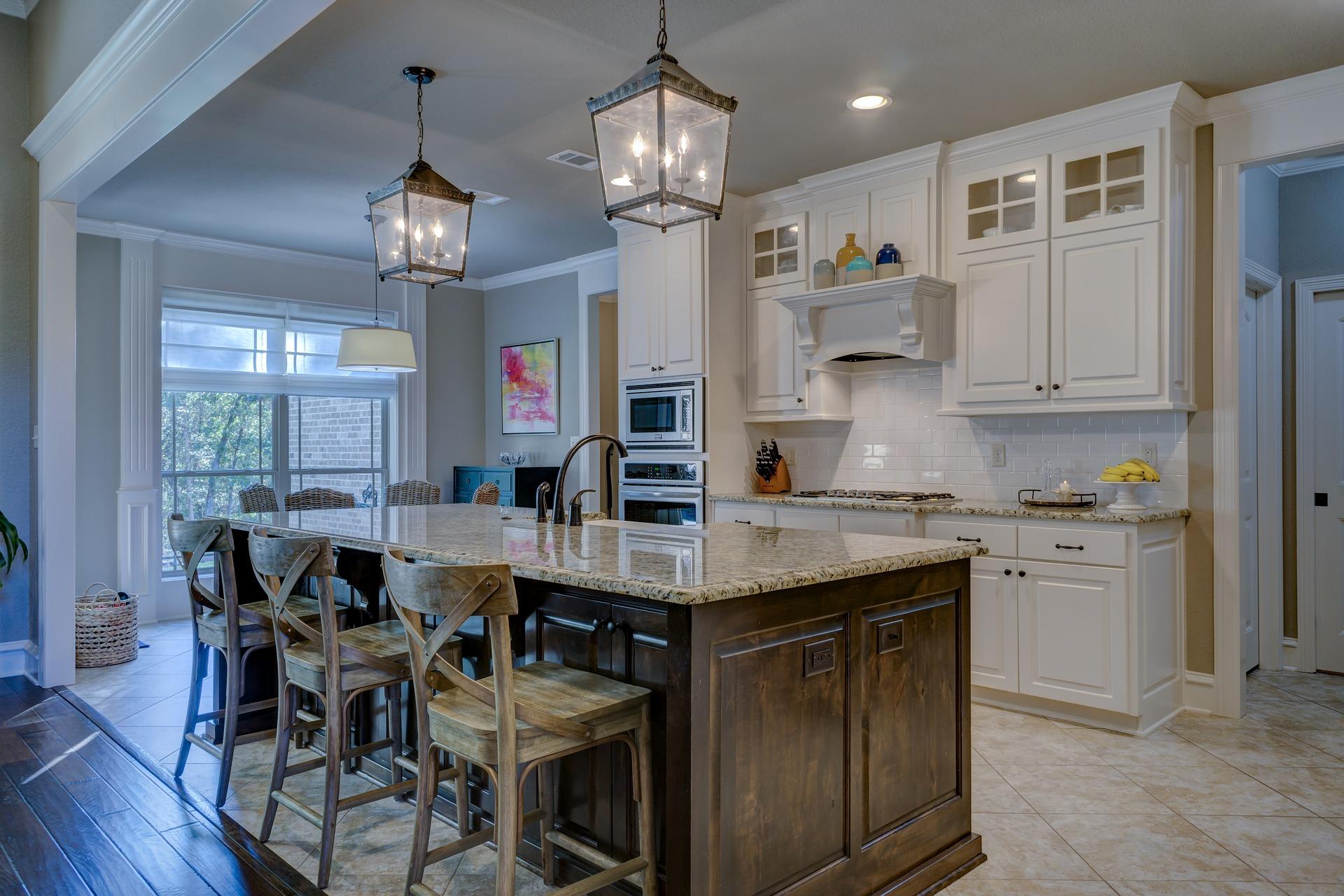 modern lighting in kitchen