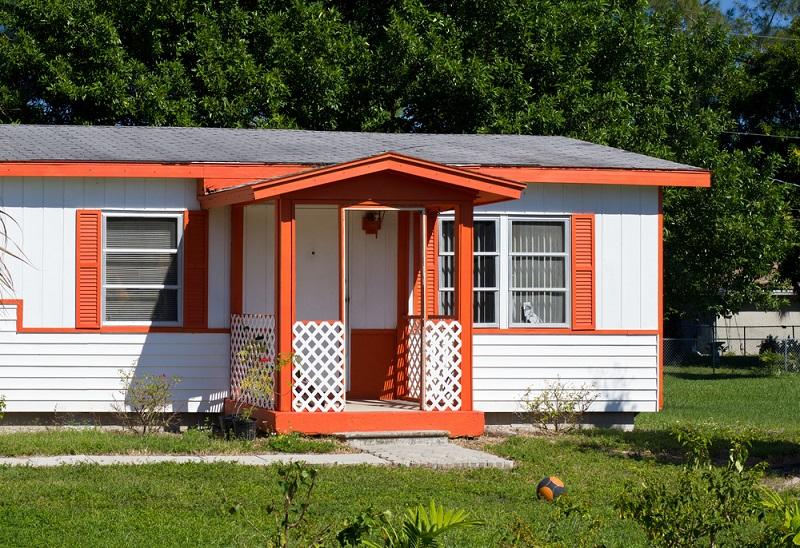 Modular Homes outside front entrance