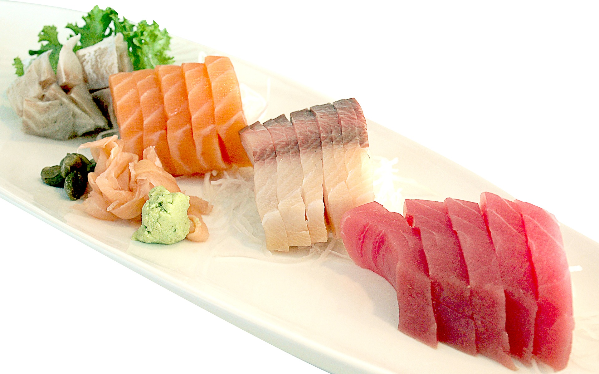 Super Foods raw fish sushi