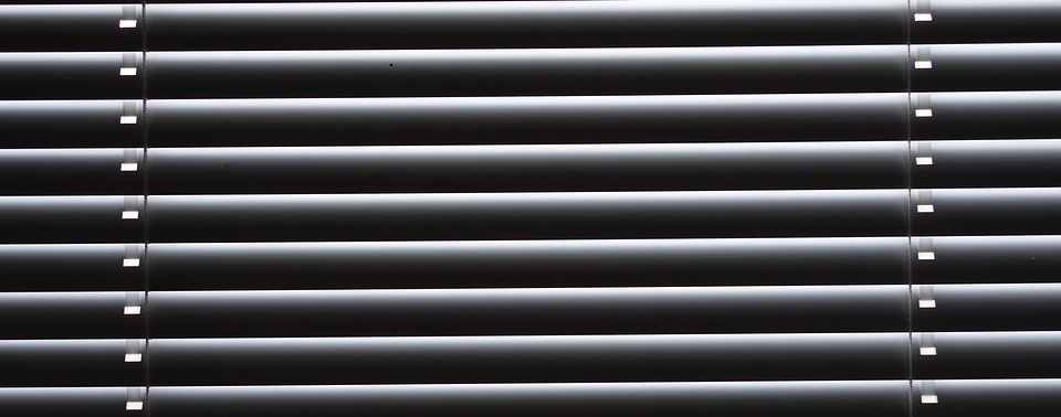 Venetian Blinds closed inside