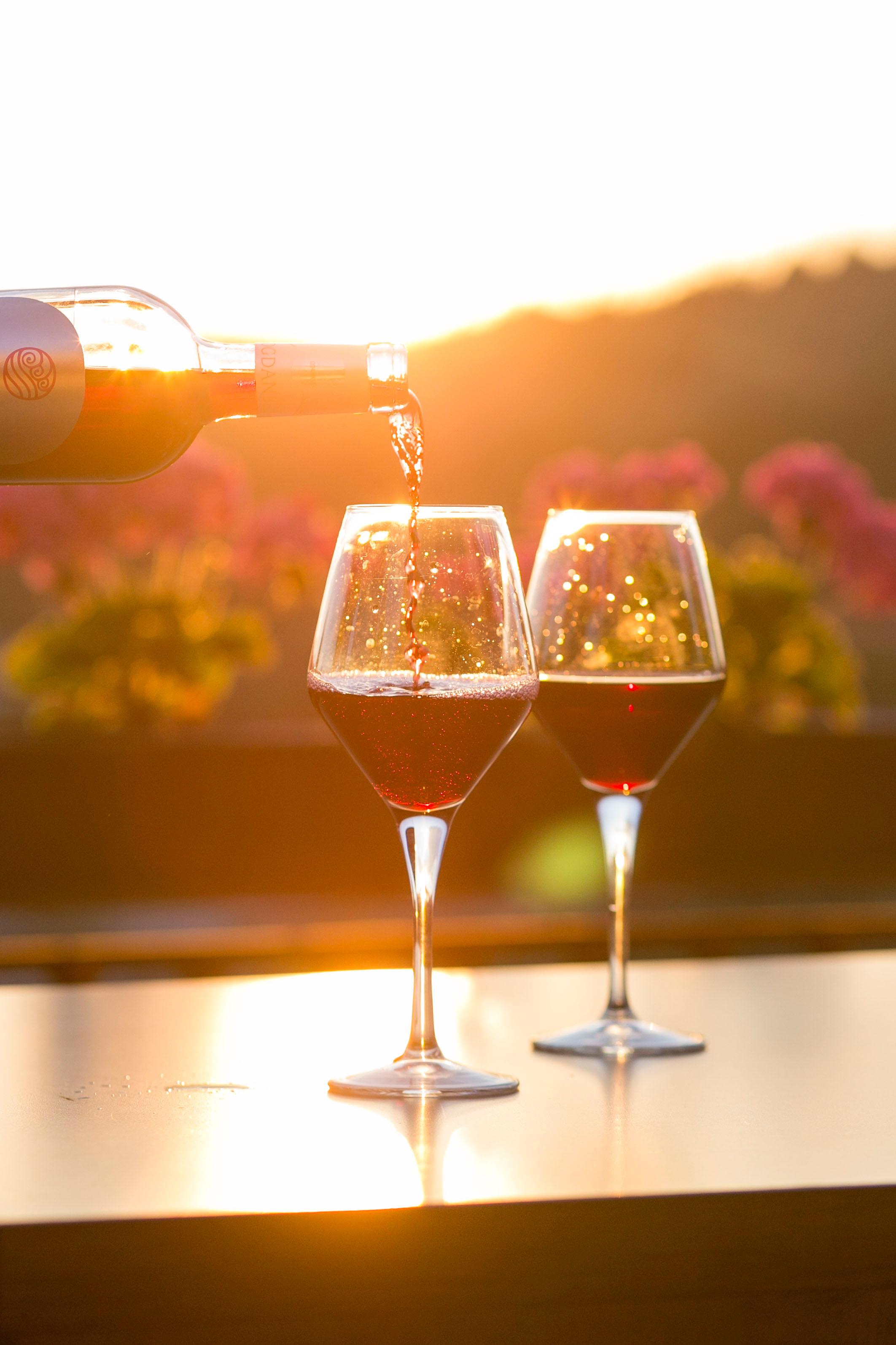 Wine Regions glasses in sunlight