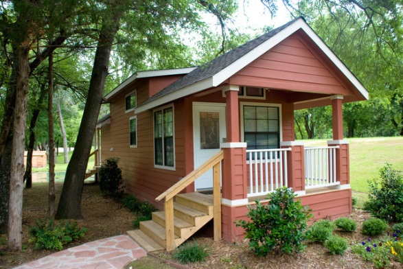 Rv Parks red cabin outside