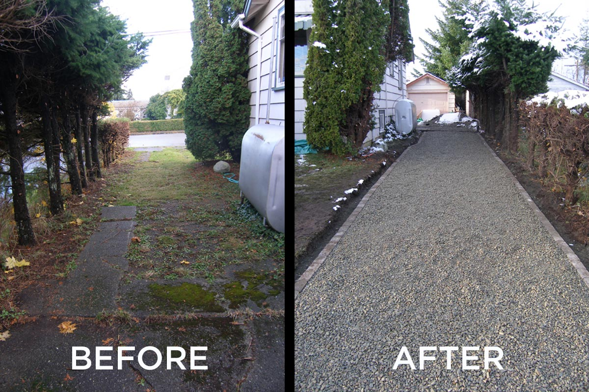 gravel gate before and after