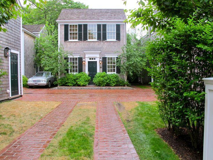 gravel driveway brick after