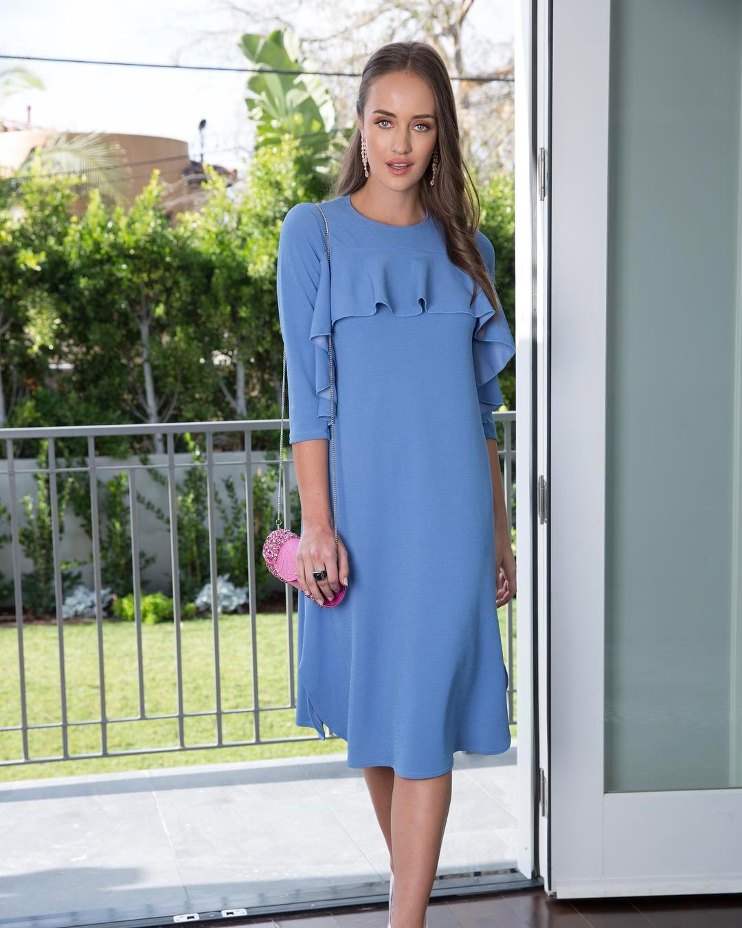 church dress women blue