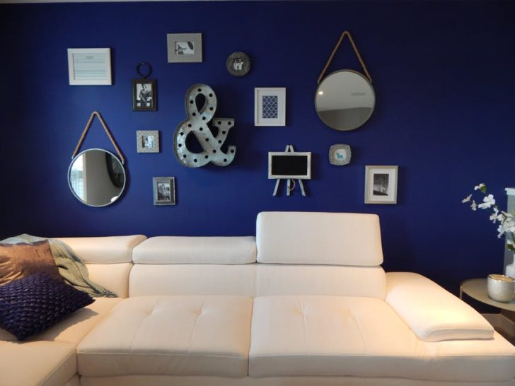 DIY Home Improvement blue room wall