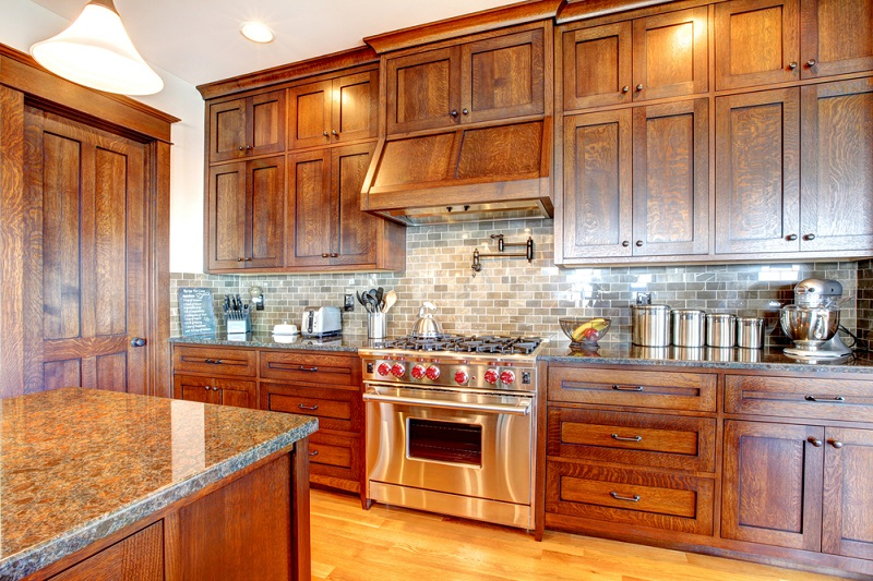 Kitchen Cabinets stainless steel oven and stove
