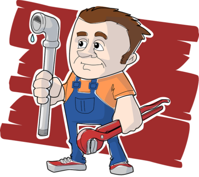 Professional plumber service animation