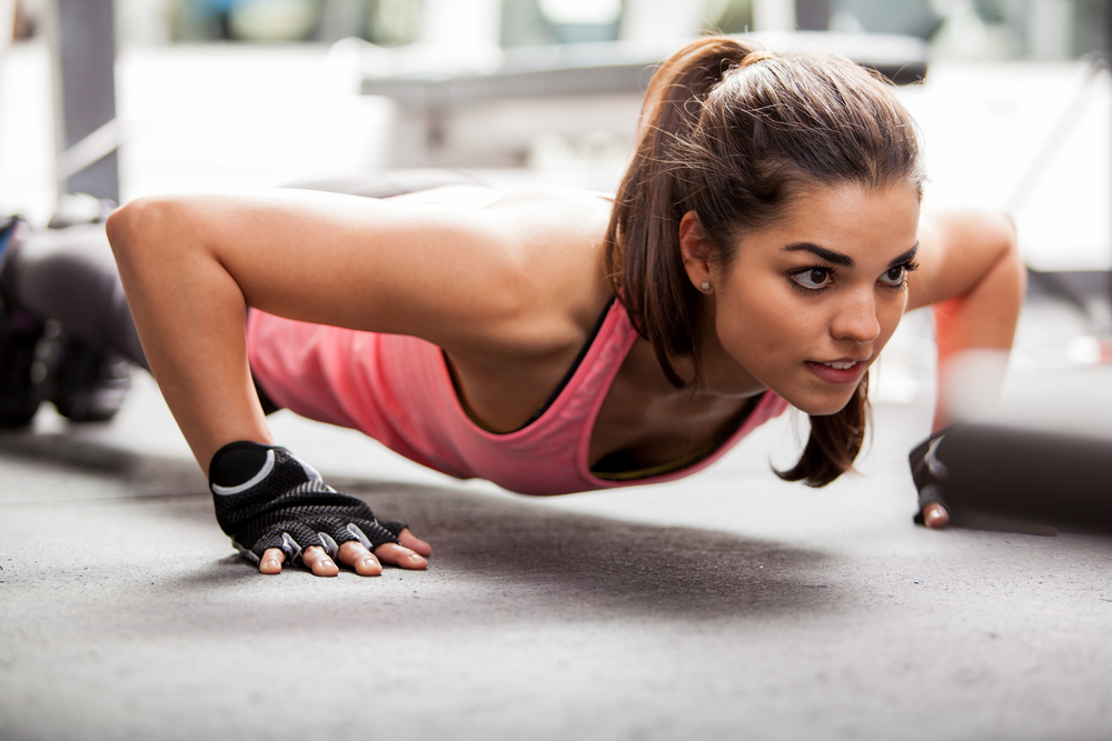 Lose Arm Fat planking on ground