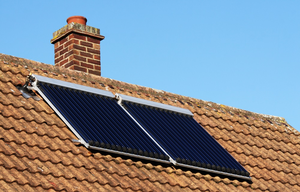 Hot Water system solar roof panels