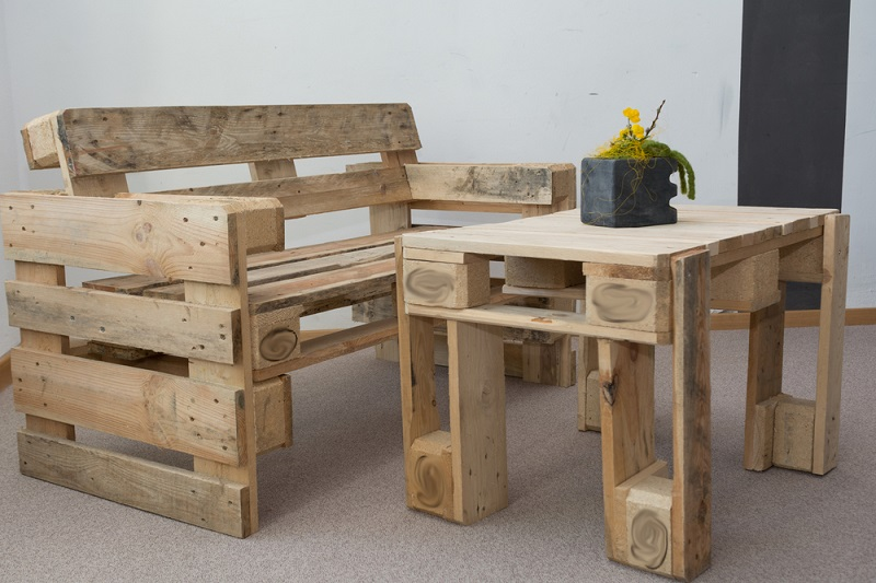 Wooden Pallets room furniture