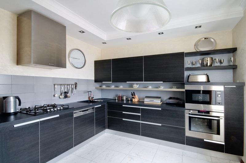 custom kitchens dark and white