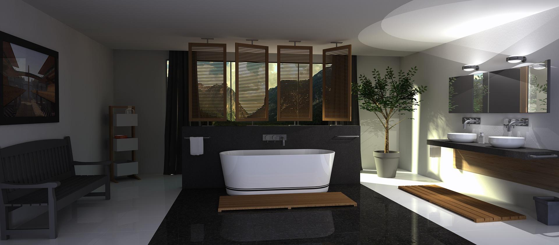 designing bathroom with bathtub