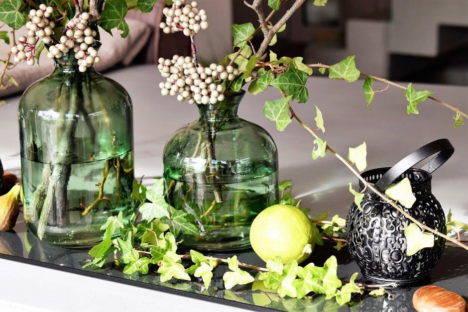 Essential Oils lavender and oil jar