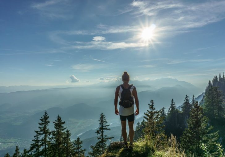 Physical And Mental Benefits overlooking mountain hiking
