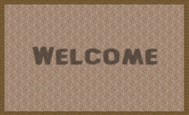 Hallway welcome mat