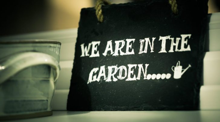 Garden black saying