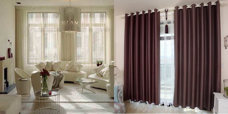 How to Choose Curtains for My Living Room maroon