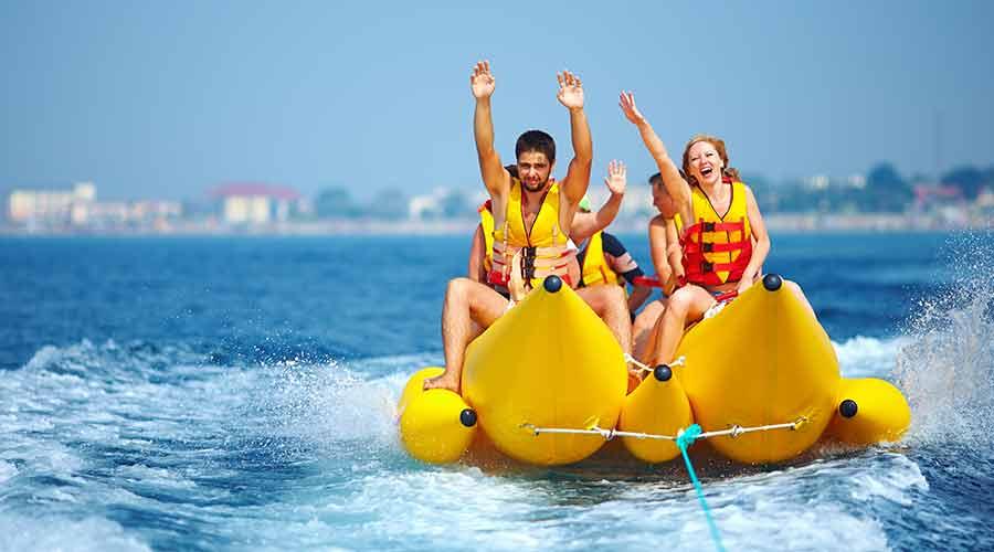 5 Water Sports in Abu Dhabi banana boat