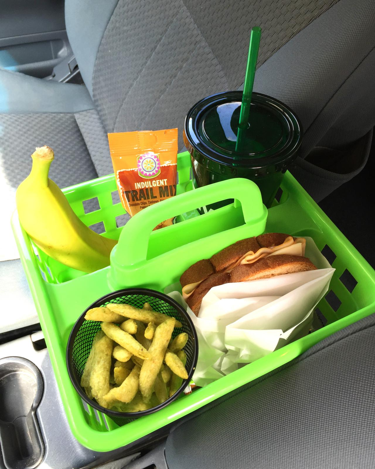 food items in tray