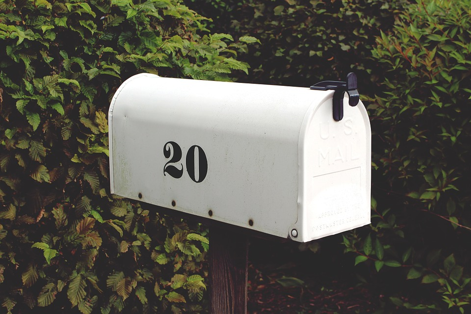 address number 20 on mailbox