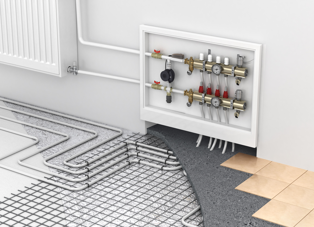 Hydronic Floor Heating pipes