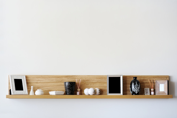 items on top of shelf